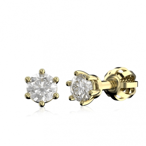 Diamantové náušnice Simi, žluté zlato s brilianty
