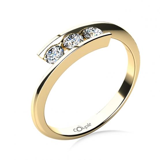 Zásnubní prsten Seraphine, žluté zlato a brilianty