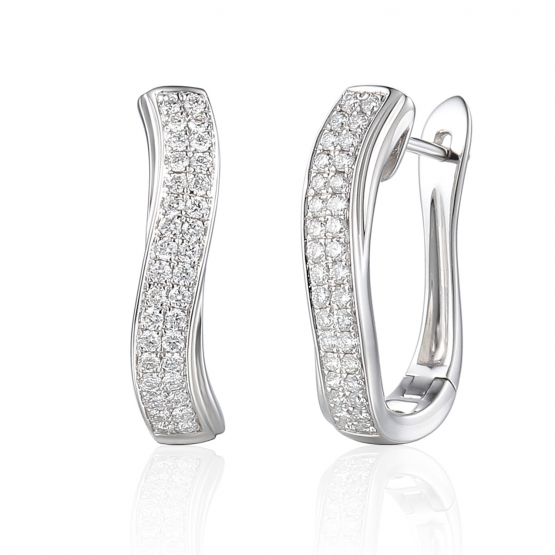 Neobvyklé diamantové náušnice Lola, bílé zlato a brilianty