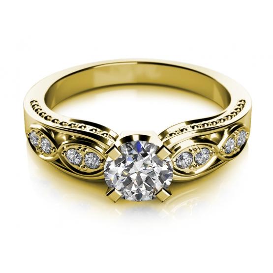 Couple, Noblesní prsten Mabel ve žlutém zlatě