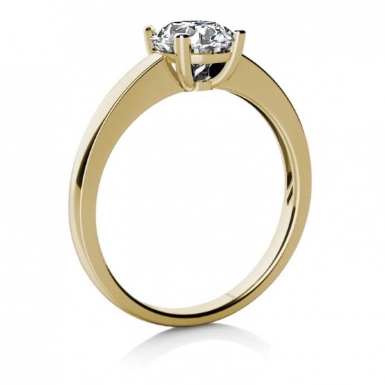 Couple, Zásnubní prsten Lydia ze žlutého zlata se zirkonem