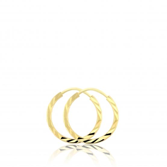 Náušnice – kruhy ze žlutého zlata