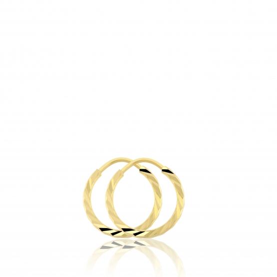 Kruhové náušnice ze žlutého zlata