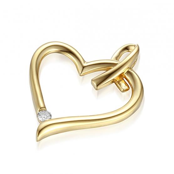 Gems, Elegantní přívěsek Libi s diamanty, žluté zlato
