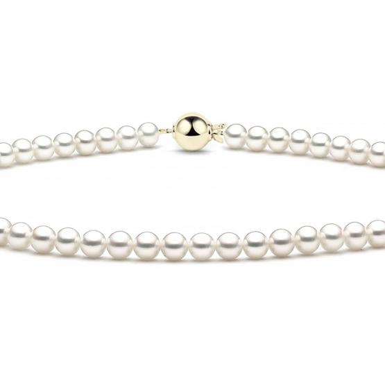 Luxusní perlový náhrdelník, zapínání ze žlutého zlata