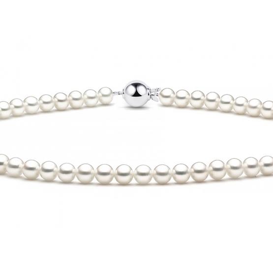 Luxusní perlový náhrdelník, zapínání z bílého zlata