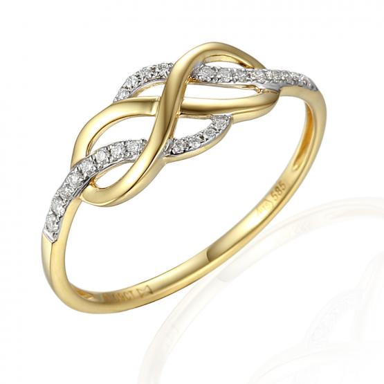 Elegantní prsten Eterno, kombinované zlato s brilianty