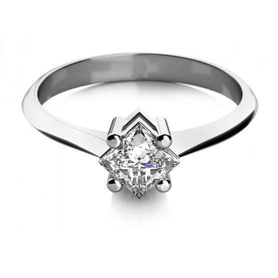 Couple, Zásnubní prsten Zarina, bílé zlato se zirkonem