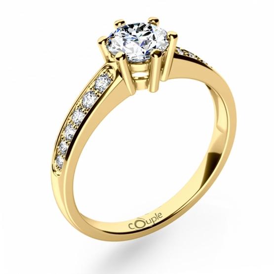 Luxusní zásnubní prsten Naria ze žlutého zlata