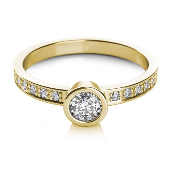 Couple, Zásnubní prsten Gabi ve žlutém zlatě