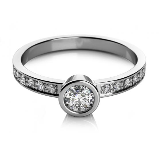 Zásnubní prsten Gabi v bílém zlatě