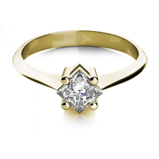 Zásnubní prsten Zarina, žluté zlato se zirkonem