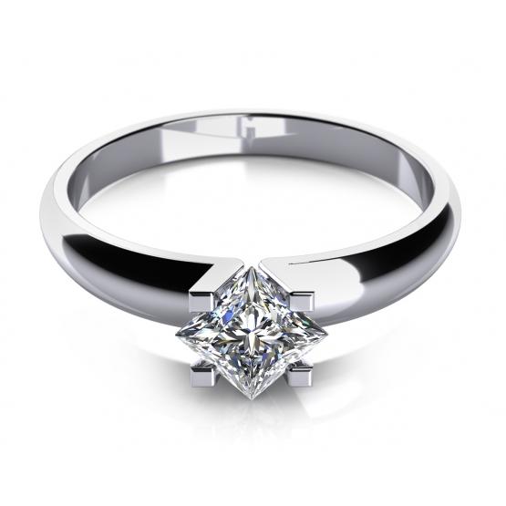 Couple, Zásnubní prsten Yvonne, bílé zlato a zirkon