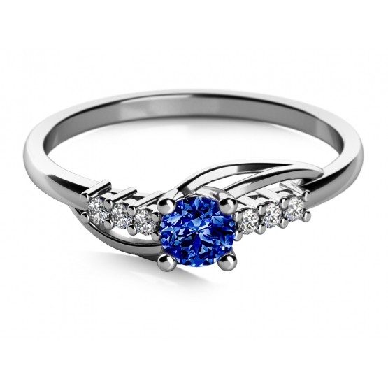 Couple, ANDROS – zásnubní prsten z bílého zlata se zirkony