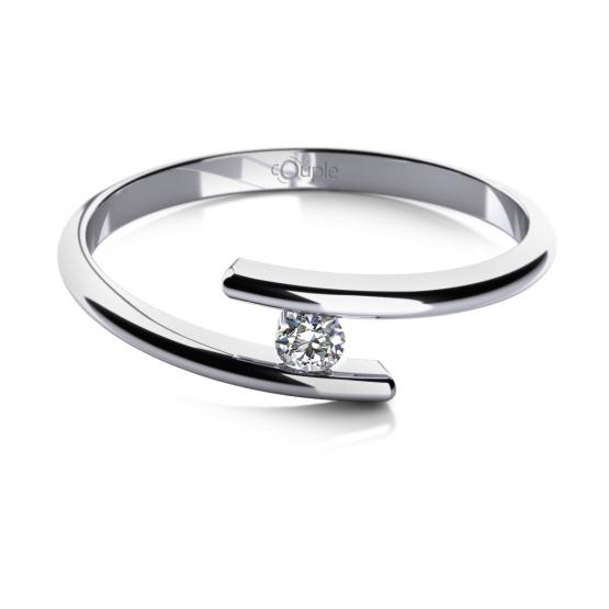 Zásnubní prsten Colet, bílé zlato se zirkonem