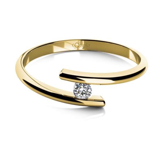 Couple, Zásnubní prsten Colet, žluté zlato se zirkonem