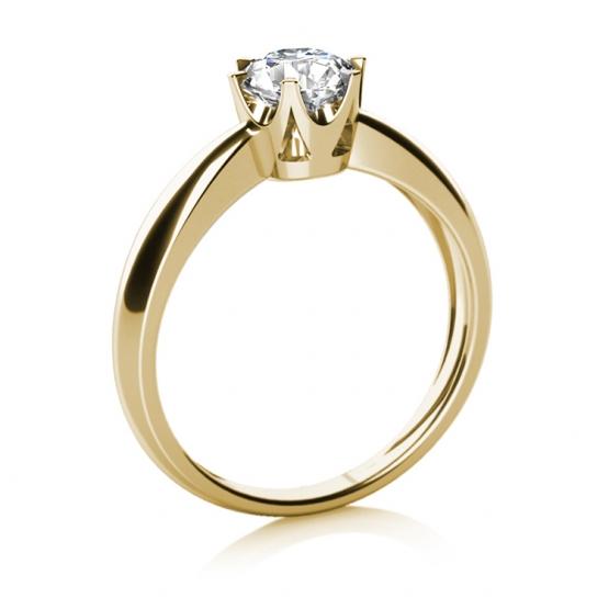 Zásnubní prsten Crown ve žlutém zlatě