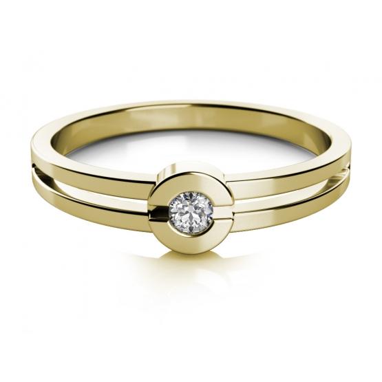 Couple, Zásnubní prsten Nina, žluté zlato se zirkonem