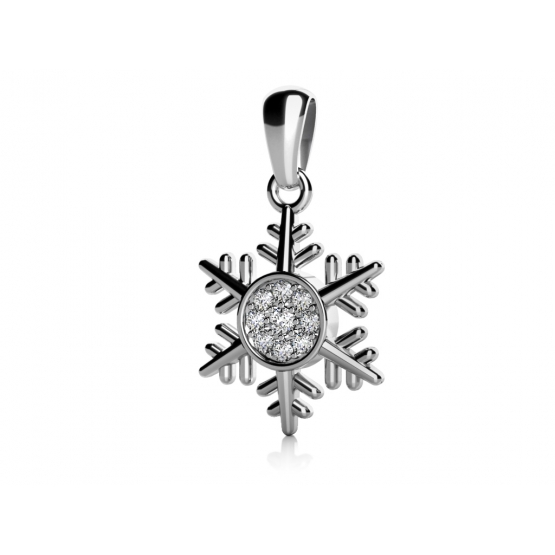 Přívěsek Snow – bílé zlato a zirkony