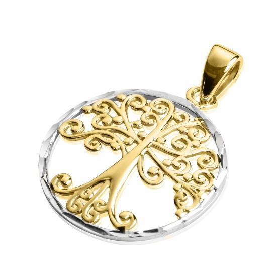 Přívěsek Tree of Life v kombinovaném zlatě
