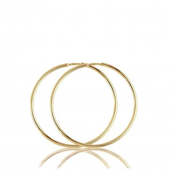 Luxur, Kruhové náušnice Classic, žluté zlato