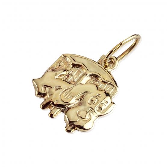 Přívěsek Doggie s motivem pejska, žluté zlato