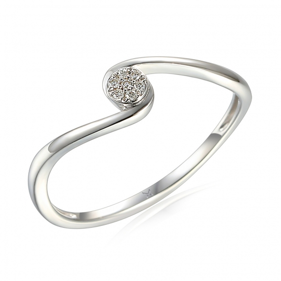 Diamantový prsten Ruby, bílé zlato