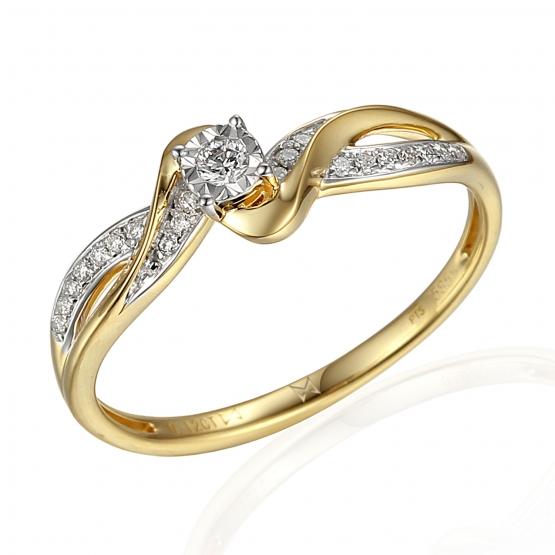 Gems, Zajímavý diamantový prsten Zaira, žluté a bílé zlato