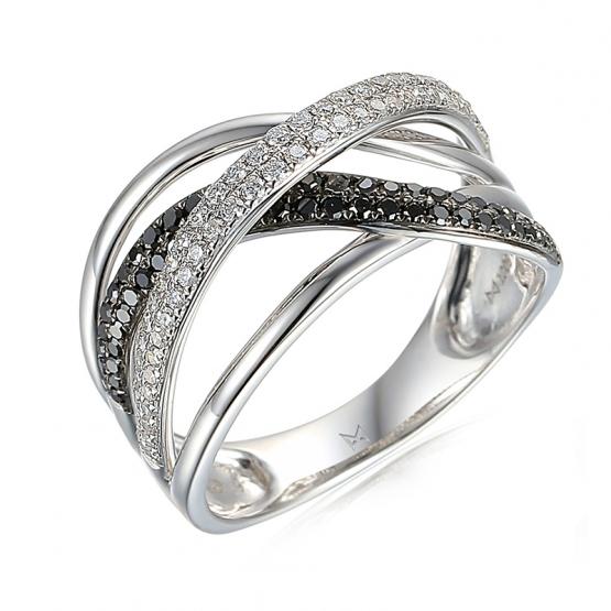 Jedinečný briliantový prsten Tessa z bílého zlata