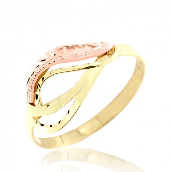 Zajímavý prsten Miri v kombinaci žlutého a červeného zlata