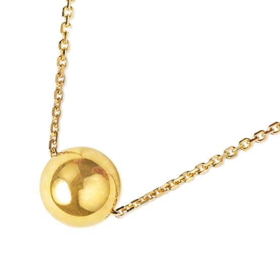 Decentní náhrdelník Oleandra – hladká kulička ve žlutém zlatě
