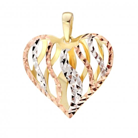 Přívěsek Srdce v kombinovaném zlatě