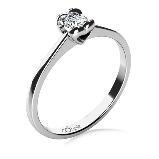 Sophia – Zásnubní prsten z bílého zlata s briliantem