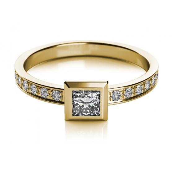 Zajímavý prsten Debie ze žlutého zlata