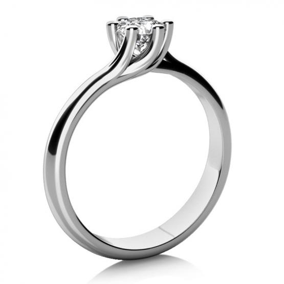 Zásnubní prsten Loraine, bílé zlato a briliant