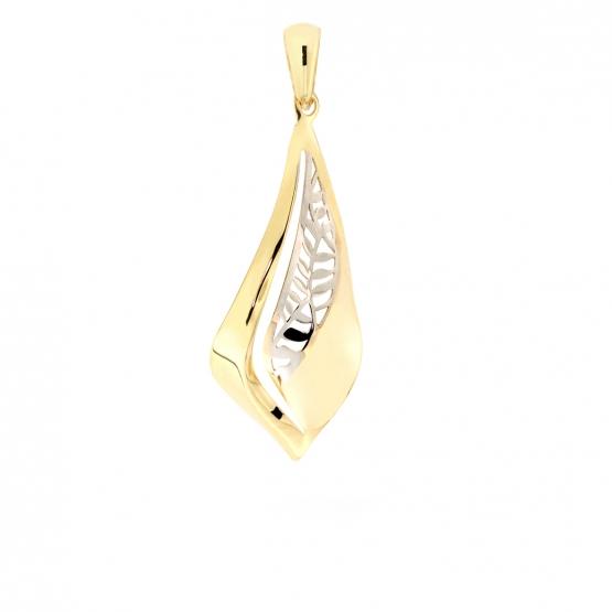 Elegantní přívěsek – žluté a bílé zlato
