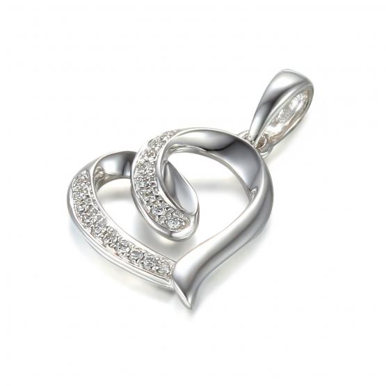 Elegantní přívěsek Asmara s diamanty, bílé zlato