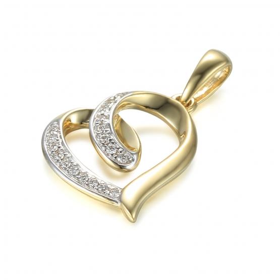 Elegantní přívěsek Asmara s diamanty, žluté zlato
