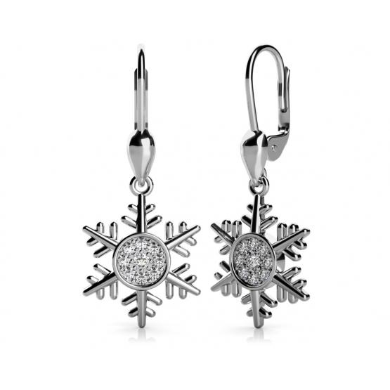 Couple, Náušnice Snow – bílé zlato a zirkony