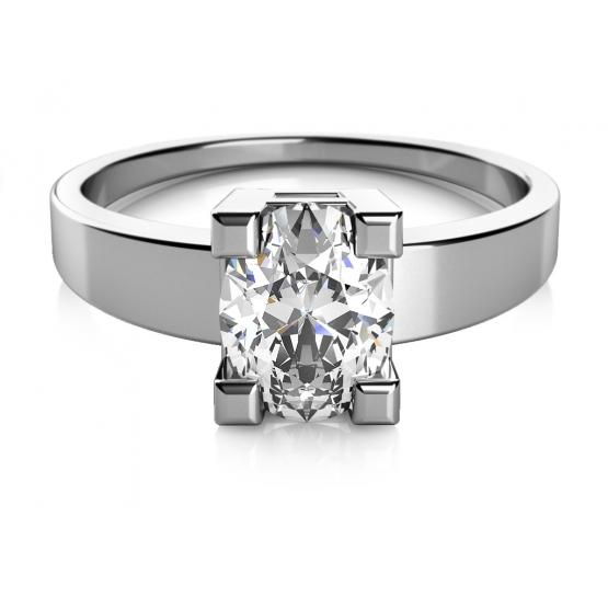 Zásnubní prsten Trisha, bílé zlato a zirkon