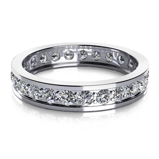 Couple, Zářivý prsten Mira v bílém zlatě se zirkony