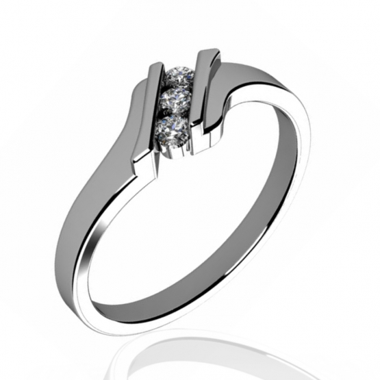 Couple, Originální prsten Blaire v bílém zlatě