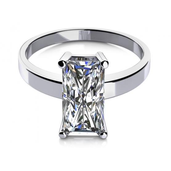 Prsten Sotira v bílém zlatě se zirkonem