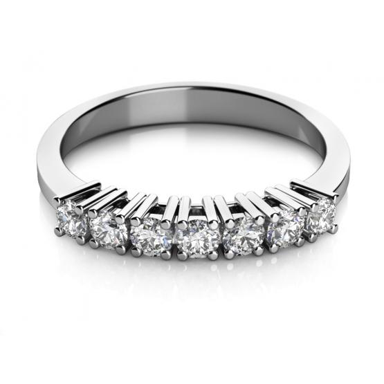 Zajímavý prsten Chloe – bílé zlato a zirkony