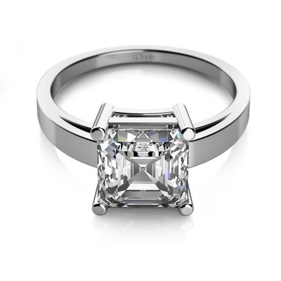 Zásnubní prsten Ada, bílé zlato a zirkon