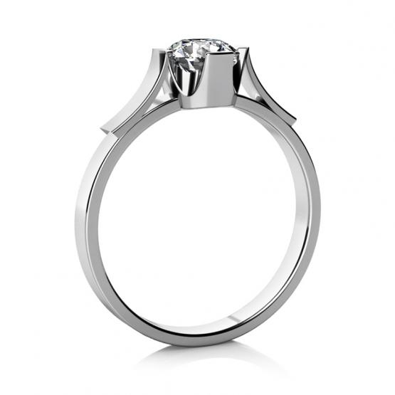 Zásnubní prsten Mathia – bílé zlato a zirkon