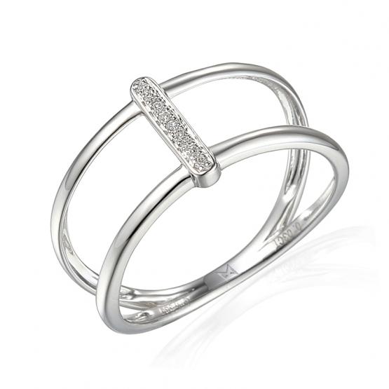 Diamantový prsten Kamari, bílé zlato s brilianty