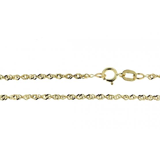 Jemný řetízek Katina – typ lambáda, žluté zlato