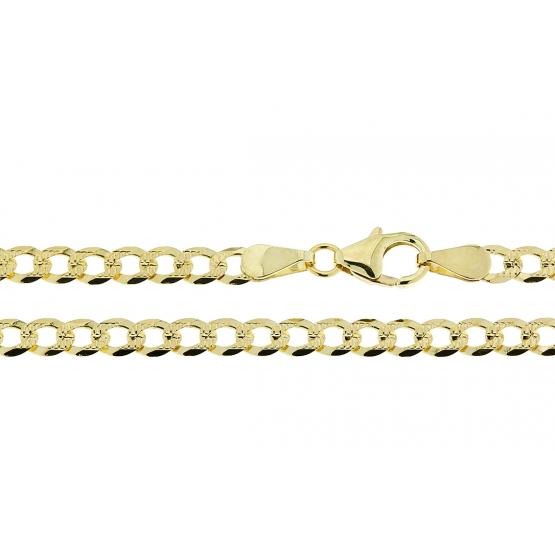 Nápadný řetěz Merbend, pancer s gravírováním ve žlutém zlatě