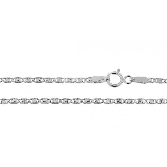 Originální řetěz v bílém zlatě